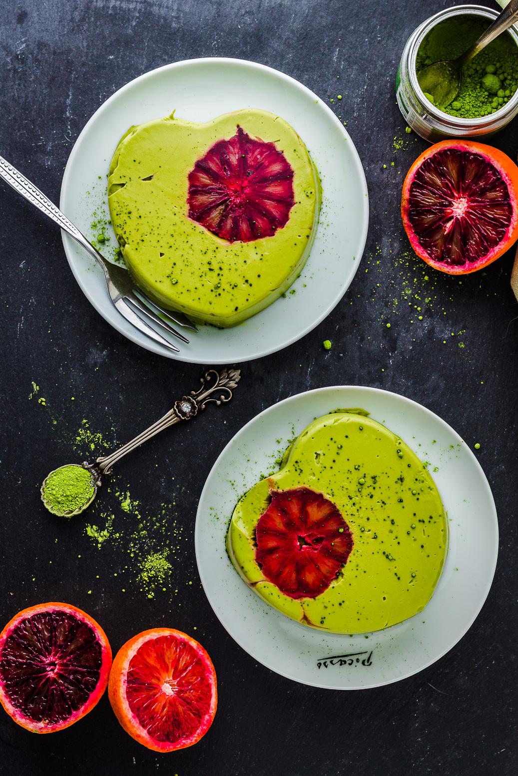 Avocadocreme Dessert mit Matcha #vegan #avocado #dessert